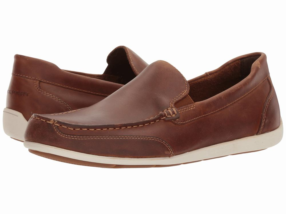 Giày Mọi Rockport Nam Bennett Chất Da Thật Hàng Nhập