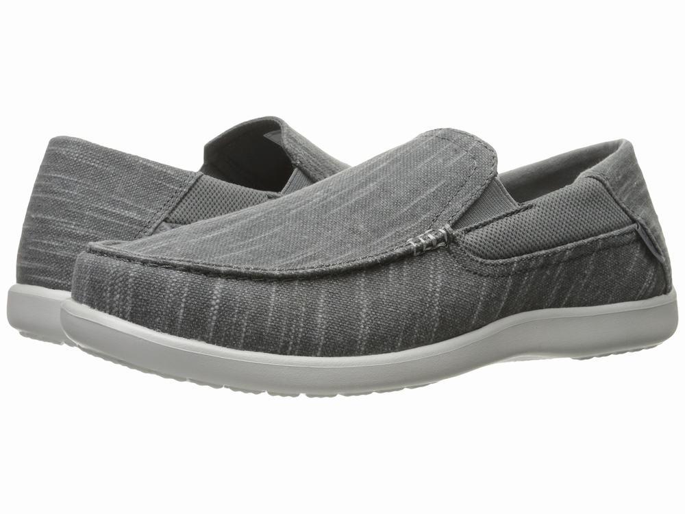 Giày Lười Crocs Nam Santa Chất Vải Hàng Cao Cấp