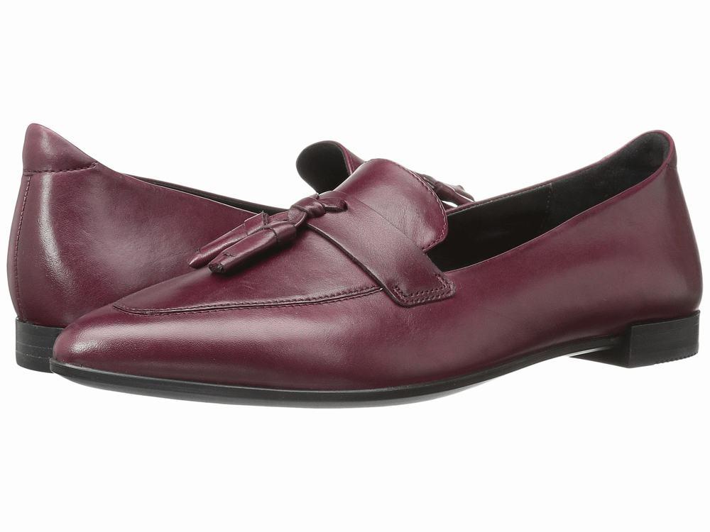 Giày Lười Nữ ECCO Da Mềm Mũi Nhọn Tassel Chính Hãng