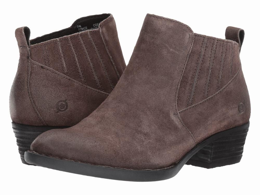 Giày Boot Da Nữ Born Đế Thấp Beebe Êm Ái Hàng Chính Hãng