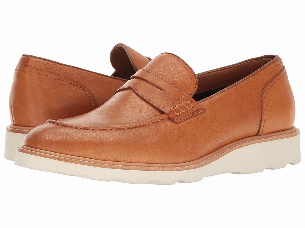 Giày Lười Da Nâu Aldo Trẻ Trung Jauquet Đế Trắng Chính Hãng