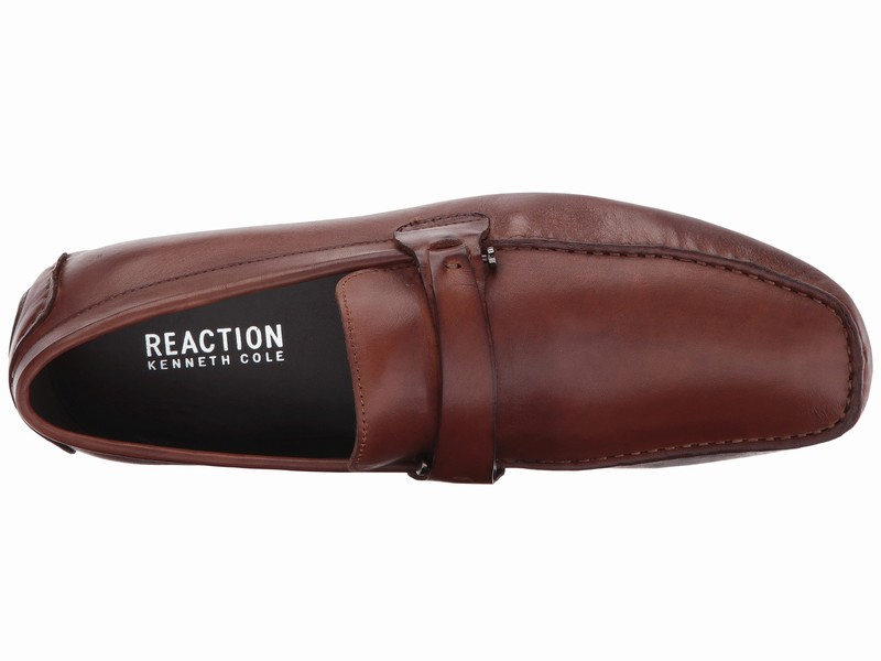 Giày Lười Kenneth Cole Reaction Chất Da Nâu Đẹp Trẻ Trung
