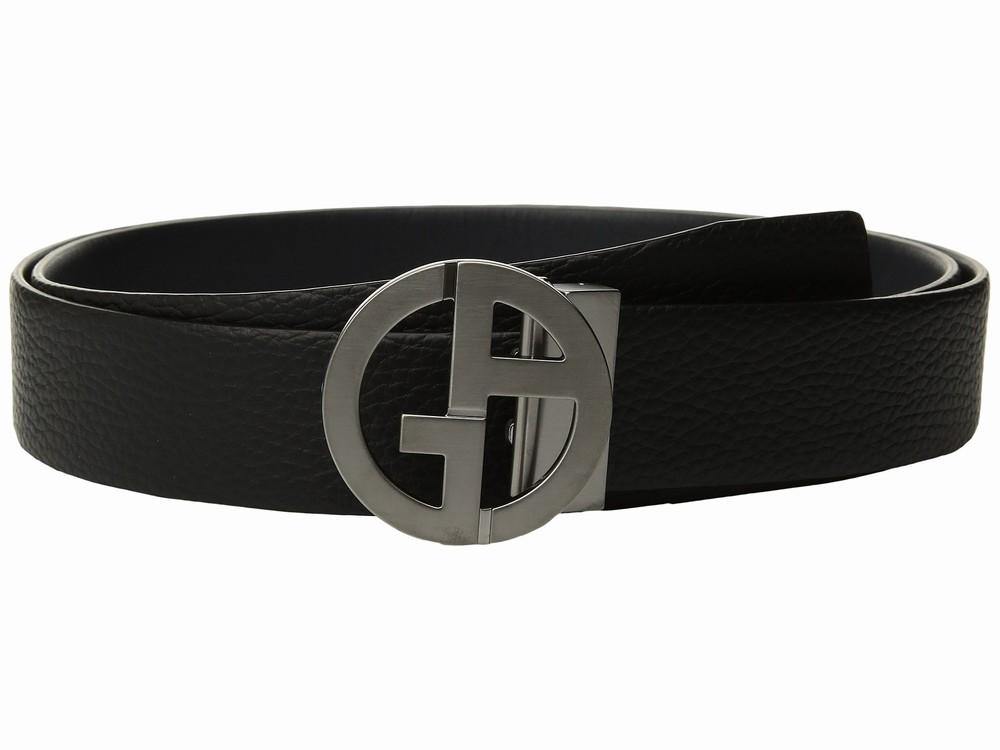 Thắt Lưng Giorgio Armani Mặt Khóa Logo Hãng Tumbled