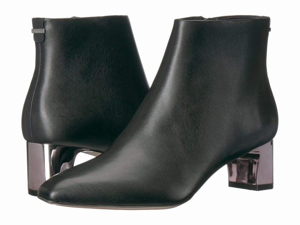 Giày Boot Nữ Chất Da Calvin Klein Gót Vừa Mimette