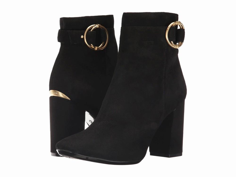 Giày Boot Calvin Klein Chất Da Lộn Đế Thô Cedrica Hàng Nhập