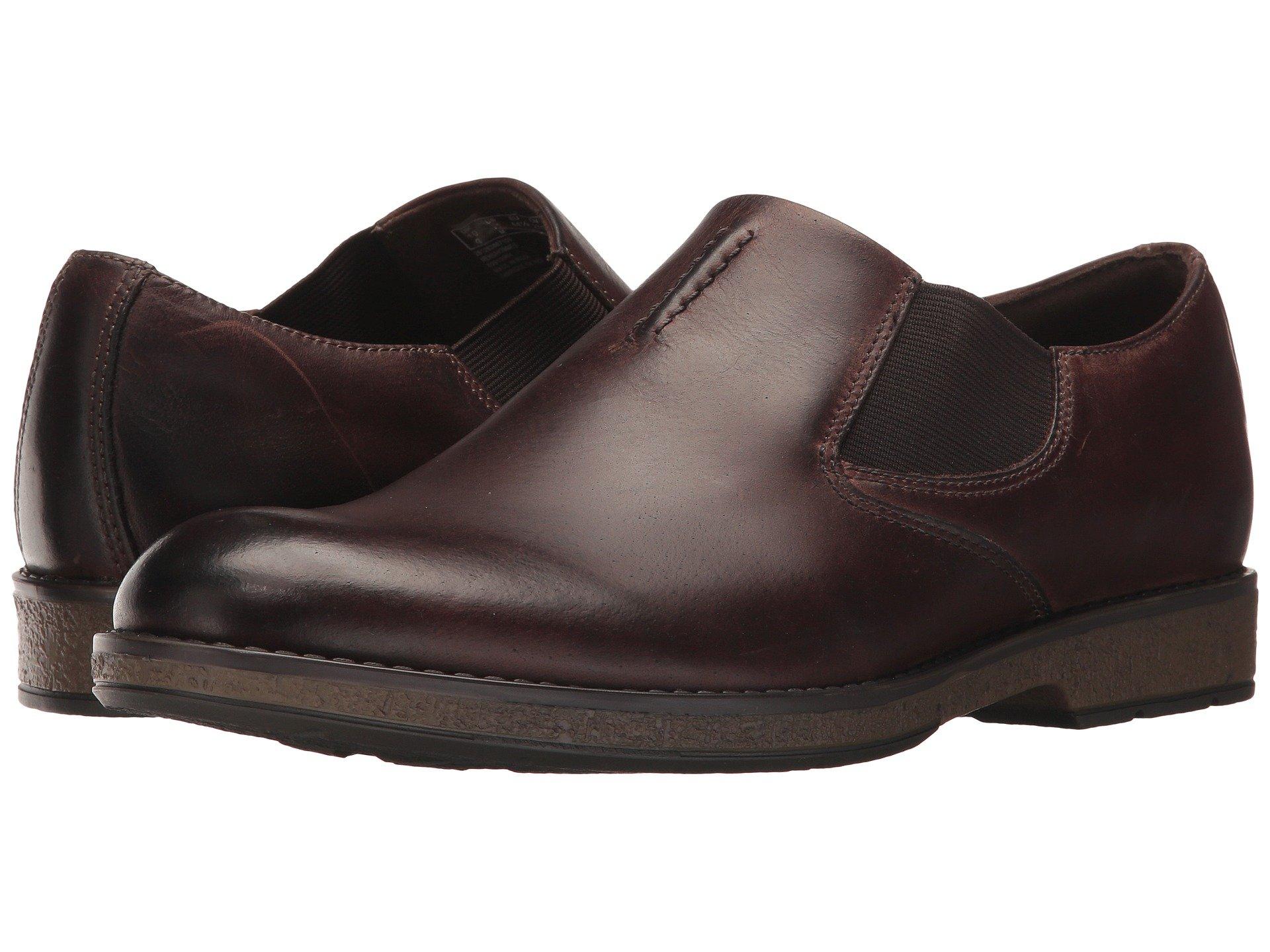 Giày Tây Nam Clarks Không Cột Dây Hinman Da Thật