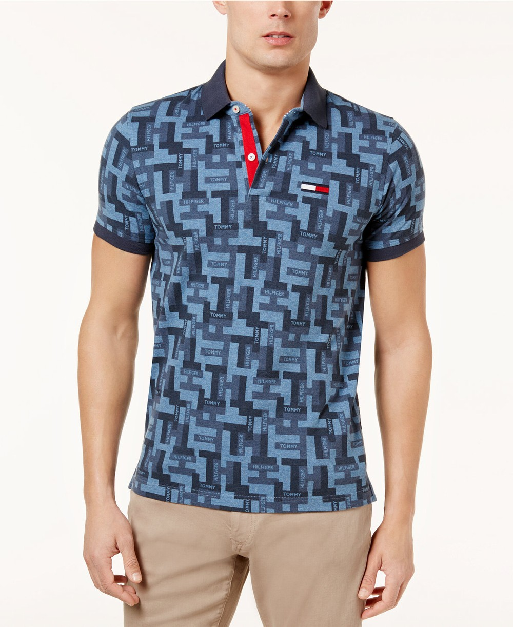 Áo Thun Polo Tommy Hilfiger Họa Tiết Logo Hãng Màu Xanh Đẹp